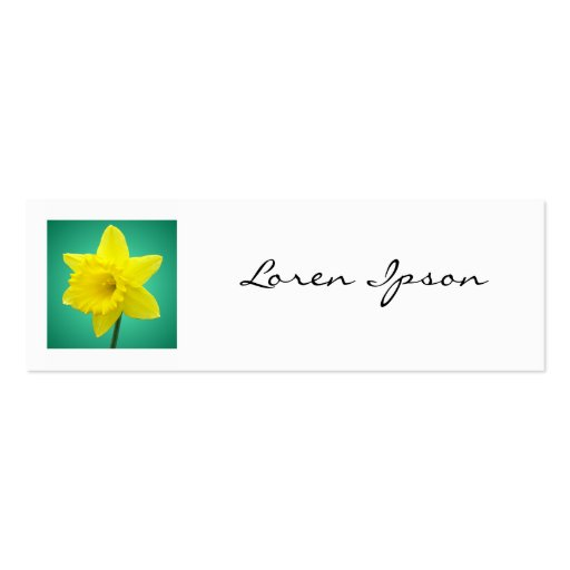 Square Photo - Daffodil 01 Double-Sided Mini Business Cards (Pack Of 20)