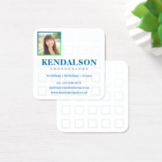 Square Photo Grid Photography Square Business Card