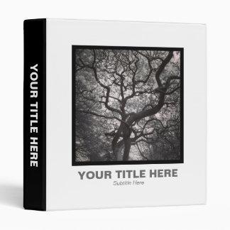 Square Photo - Magnolia Tree in Blossom 03 3 Ring Binder