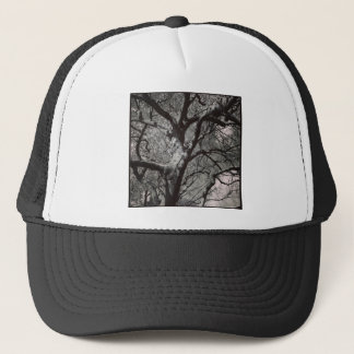 Square Photo - Magnolia Tree in Early Spring Trucker Hat