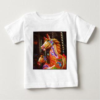 Square Photo - Merry-go-round Horses 02 T-shirts