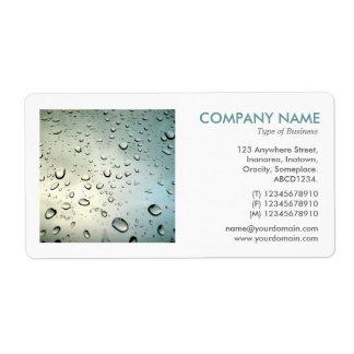 Square Photo - Rain on my Window Shipping Label