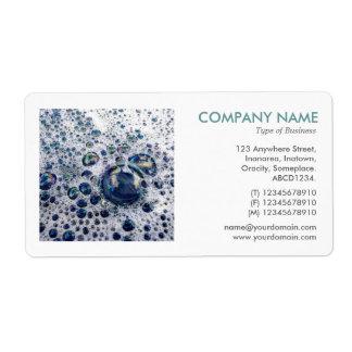 Square Photo - Soap Suds Shipping Label