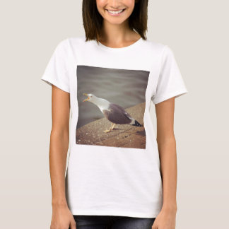 Square Photo - Squawking Seagull T-Shirt