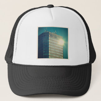 Square Photo - Sun on a Building Trucker Hat
