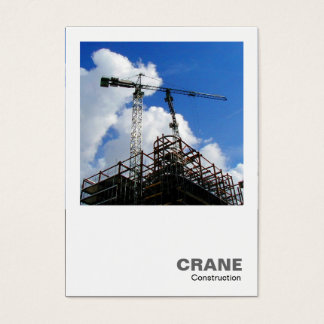 Square Photo - Tower Cranes Business Card