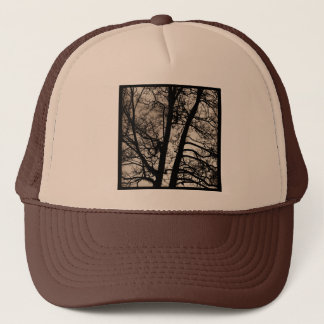 Square Photo - Tree Branches Trucker Hat