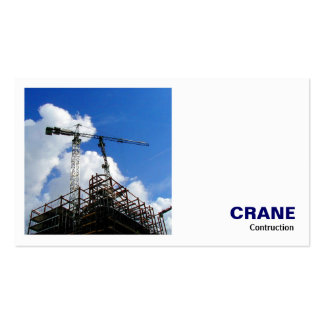 Square Photo (v2) - Crane Construction Double-Sided Standard Business Cards (Pack Of 100)
