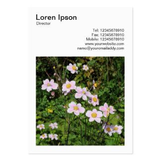 Square Photo (v3) - Pink Anemones Large Business Card