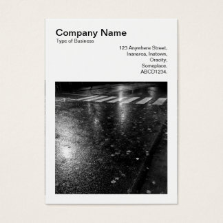 Square Photo (v3) - Wet Autumn Road at Night Business Card