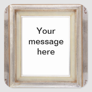 Square picture-frame customizable stickers