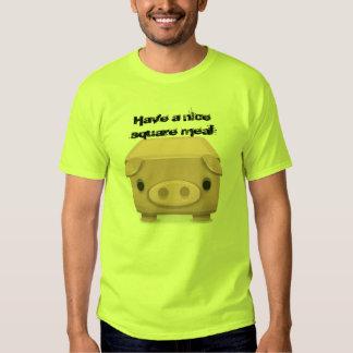 Square  Pig Fun Pun T Shirt