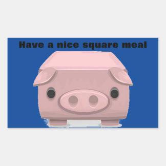 Square Pig Pun Fin Rectangular Sticker