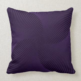 Square Pillow, Purple Spiral Design Throw Pillow