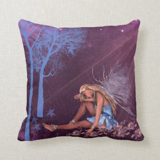Square Pillow with Fairy