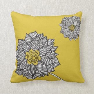 square pillow yello flower