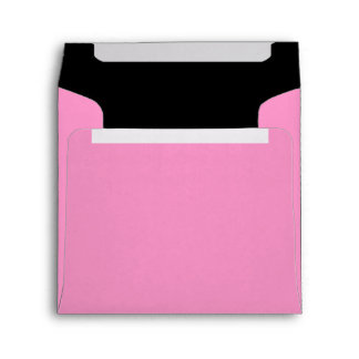 Square Pink and Black Color Combo Envelopes