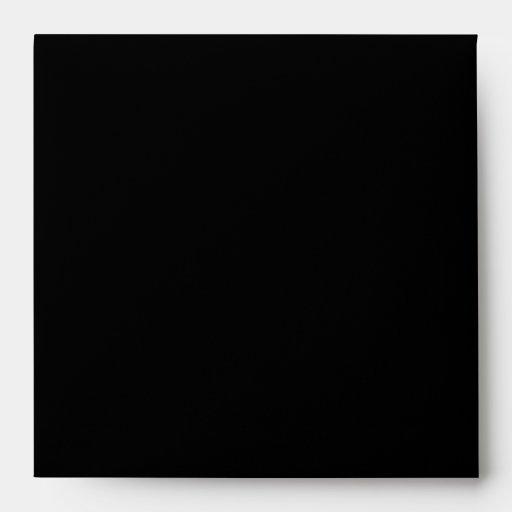 Square Pink/Black Damask Envelope