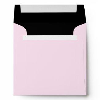 Square Pink Black Linen Envelopes