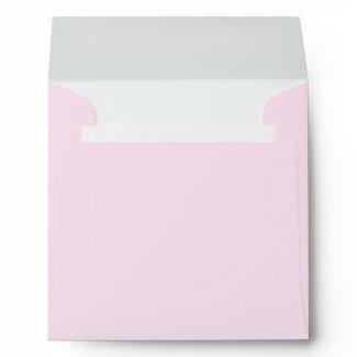 Square Pink Linen Envelopes