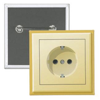 Square Plug Badge Pinback Button