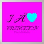 i  [Love heart]   princeton &  roc royal i  [Love heart]   princeton  Square Posters