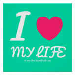 i [Love heart]  my life i [Love heart]  my life Square Posters