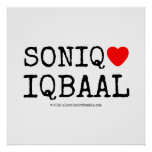 soniq [Love heart]  iqbaal soniq [Love heart]  iqbaal Square Posters