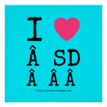 i [Love heart]   sd    i [Love heart]   sd    Square Posters