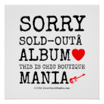 sorry sold-out album [Love heart]  this is chic boutique mania [Electric guitar]   sorry sold-out album [Love heart]  this is chic boutique mania [Electric guitar]   Square Posters