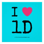 i [Love heart]  1d  i [Love heart]  1d  Square Posters