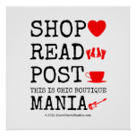 shop [Love heart]  read [Feet]  post [Cup]  this is chic boutique mania [Electric guitar]   shop [Love heart]  read [Feet]  post [Cup]  this is chic boutique mania [Electric guitar]   Square Posters