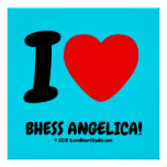 i [Love heart]  bhess angelica! i [Love heart]  bhess angelica! Square Posters