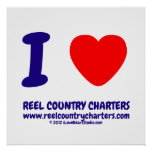 i [Love heart]  reel country charters www.reelcountrycharters.com i [Love heart]  reel country charters www.reelcountrycharters.com Square Posters