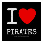 i [Love heart]  pirates i [Love heart]  pirates Square Posters