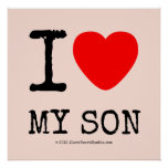 i [Love heart]  my son i [Love heart]  my son Square Posters