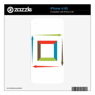 Square Process Financial Chart Skins For iPhone 4