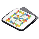 Square Puzzle Autism Awareness Ribbon Laptop Sleeve