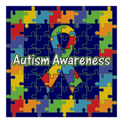 Autism Awareness Art Posters Framed Artwork: Autism Puzzle Posters, Autism Puzzle Prints, Art Prints
