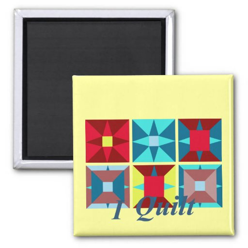 Square Quilt Magnet