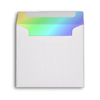 "Square Rainbow Invitation Envelope – 5 ½"" x 5 ½ envelope"