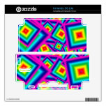 Square Rainbow Nintendo DS Lite console skin Decals For The DS Lite