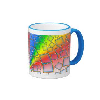 Square rainbows mugs