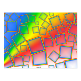 Square rainbows postcard