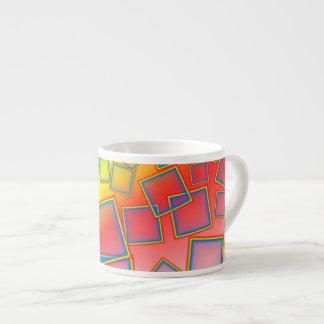 Square rainbows espresso mug