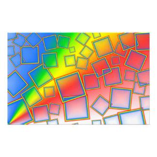 Square rainbows stationery