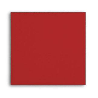 Square Red and Gold Linen Envelopes