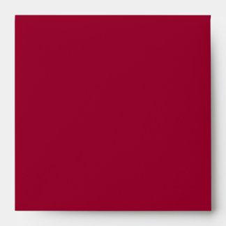 Square Red Black Linen Envelopes