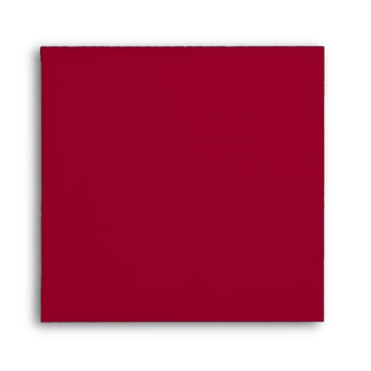 Square Red Black Linen Envelopes Zazzle