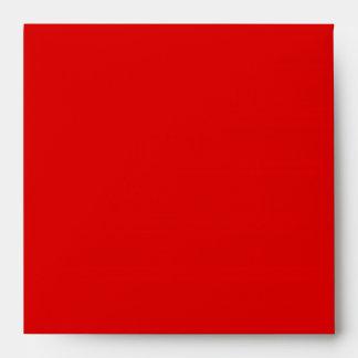 Square Red Linen Envelopes